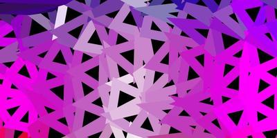 design de mosaico de triângulo de vetor rosa e roxo claro.