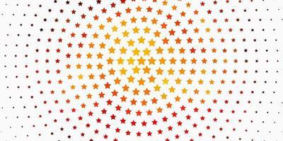 modelo de vetor laranja claro com estrelas de néon.