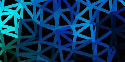 pano de fundo do triângulo abstrato do vetor azul escuro e verde.