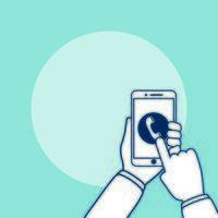 mãos usando tecnologia de dispositivo smartphone vetor