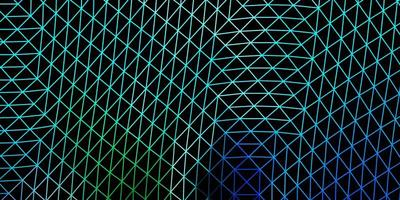 projeto do mosaico do triângulo do vetor azul claro e verde.