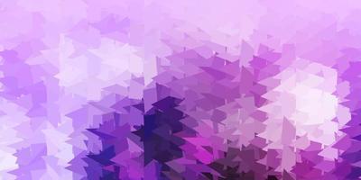 layout poligonal geométrico do vetor roxo claro.