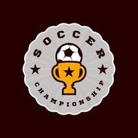 logotipo de vetor do campeão de futebol
