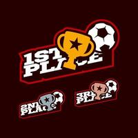 conjunto de competição de vitória de futebol ou futebol