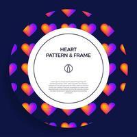 cartaz, banner ou moldura de coração de círculo de cartão