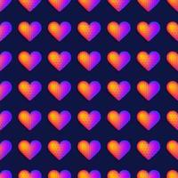 padrão de coração realista de arco-íris sem costura