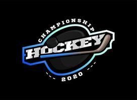 logotipo do esporte de hóquei vetor