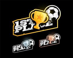 conjunto de competição de vitória de futebol ou futebol vetor