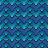 dragão verde e azul escala padrão sem emenda vetor