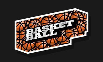 logotipo do esporte basquete profissional moderno vetor
