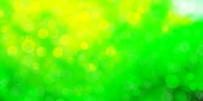 fundo vector verde e amarelo claro com círculos.