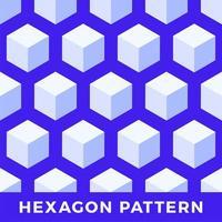 hexágono padrão de vetor cubo abstrato sem emenda