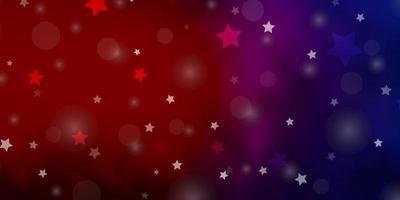 luz azul, vermelho vetor padrão com círculos, estrelas.