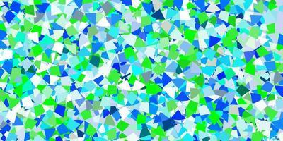 modelo de vetor azul claro com cristais, triângulos.