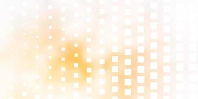 textura vector laranja claro em estilo retangular.