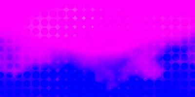 textura de vetor rosa claro, azul com discos.