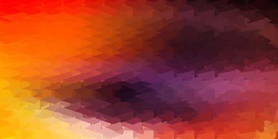 papel de parede de mosaico de triângulo de vetor em rosa claro e amarelo.