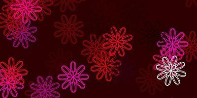 arte natural do vetor roxo e rosa claro com flores.