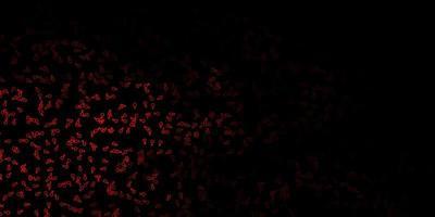 fundo vector laranja escuro com símbolos ocultos.