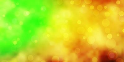 textura de vetor verde e amarelo claro com discos.