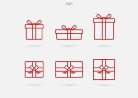 ícone da caixa de presente. sinal e símbolo da caixa de presente de Natal. vetor. vetor