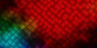 layout de vetor multicolorido escuro com linhas, retângulos.