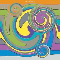 fundo abstrato da arte pop. padrão de pincel de pintura colorida artística para segundo plano. vetor. vetor