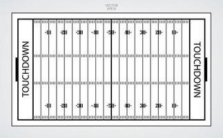 linha de campo de futebol americano. ilustração vetorial. vetor