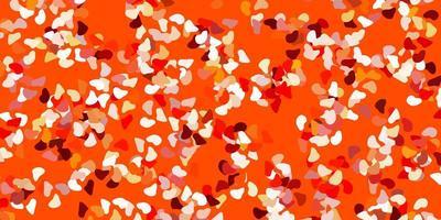 fundo laranja claro do vetor com formas aleatórias.