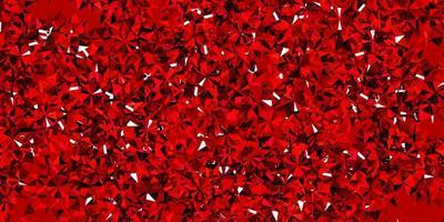 fundo vector vermelho claro com flocos de neve de Natal.