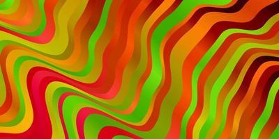 fundo escuro do vetor multicolor com linhas.