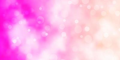 textura de vetor rosa claro com discos.