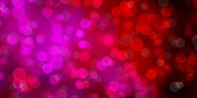 modelo de vetor roxo, rosa escuro com círculos.