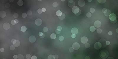 textura vector verde escuro com círculos.