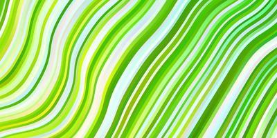 padrão de vetor verde e amarelo claro com curvas.