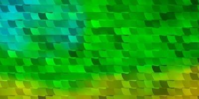 pano de fundo de vetor verde e amarelo claro com retângulos.
