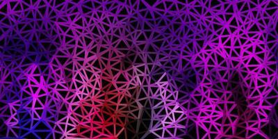 cenário poligonal de luz multicolor vetor.