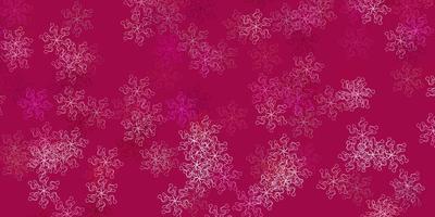 fundo do doodle do vetor rosa claro com flores.
