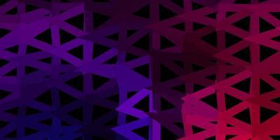 pano de fundo do triângulo abstrato do vetor roxo escuro, rosa.