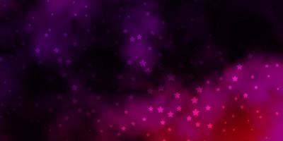 padrão de vetor roxo escuro, rosa com estrelas abstratas.