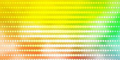fundo vector verde e vermelho claro com círculos.