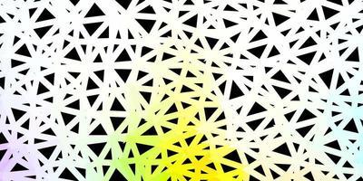 fundo do triângulo abstrato do vetor multicolorido claro.