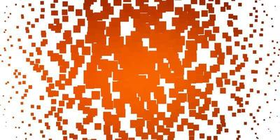 layout de vetor laranja claro com linhas, retângulos.