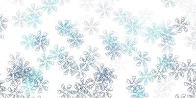modelo abstrato de vetor azul, verde claro com folhas.