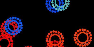 modelo de vetor multicolor escuro com sinais de gripe.