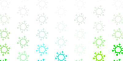 textura de vetor verde claro com símbolos de doenças