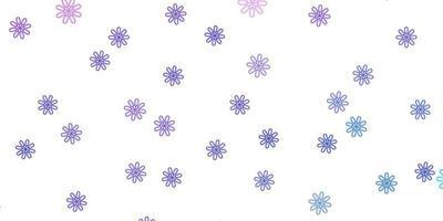 layout natural do vetor roxo claro com flores.