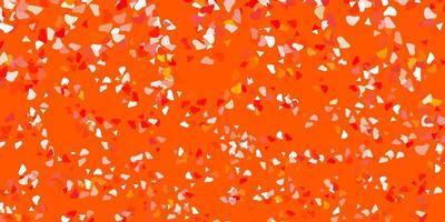 pano de fundo vector laranja claro com formas caóticas.