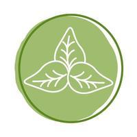 folhas de planta de estilo orgânico vetor