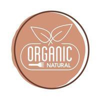 ícone de bloco de letras de natureza orgânica vetor